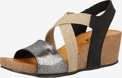 IGI&CO Sandale in beige / schwarz / silber, Produktansicht
