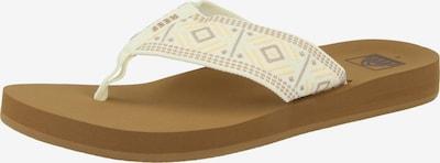 REEF Strandschuh 'Spring Woven' in braun / neonorange / weiß, Produktansicht