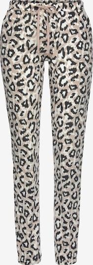LASCANA Pyjamahose in pastellorange / schwarz / weiß, Produktansicht