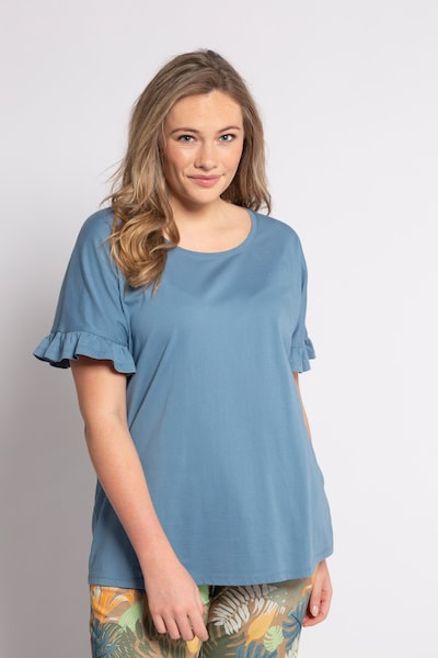 Ulla Popken T-Shirt in hellblau: Frontalansicht