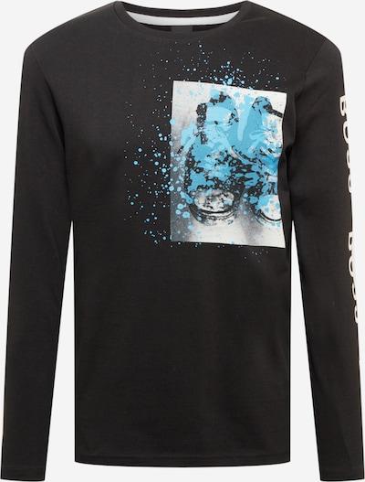 BOSS Casual Langarmshirt in schwarz, Produktansicht