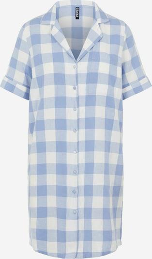 PIECES Chemise de nuit en bleu / blanc, Vue avec produit