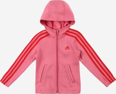 Bluză cu fermoar sport ADIDAS PERFORMANCE pe roz pal / roși aprins, Vizualizare produs