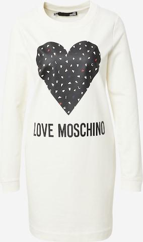 Robe Love Moschino en blanc