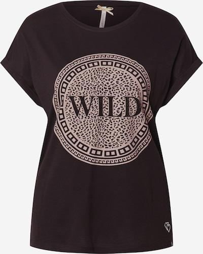 Key Largo T-Shirt 'CIRCLE' in dunkelbraun / altrosa, Produktansicht