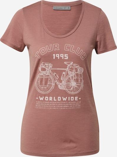 Icebreaker Sporta krekls 'Tech Lite SS Scoop Tour Club 1995' vecrozā / balts, Preces skats