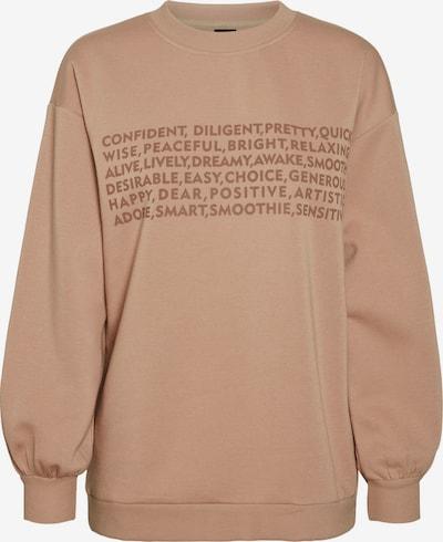 VERO MODA Sweatshirt 'Natalie' in schoko / hellbraun, Produktansicht