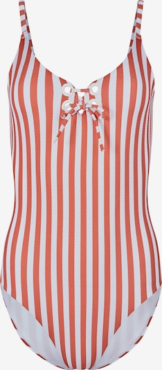 Skiny Бански костюм 'Surf Girl' в тъмнооранжево / бяло, Преглед на продукта