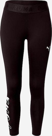PUMA Sportbroek 'Modern Sports' in de kleur Zwart / Wit, Productweergave