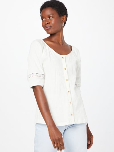 EDC BY ESPRIT Bluse in weiß, Modelansicht