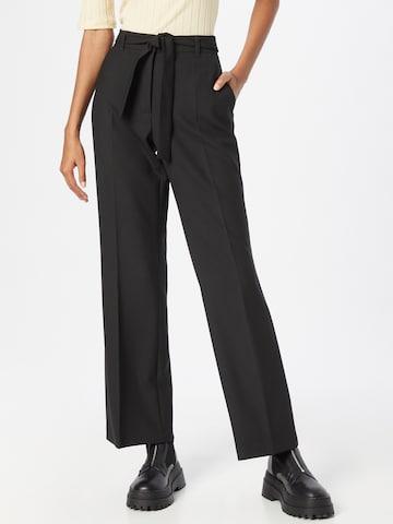 s.Oliver BLACK LABEL Παντελόνι με τσάκιση 'Charlotte' σε μαύρο