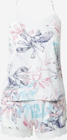 ESOTIQ Pyjama 'ELEONORE' in mischfarben / weiß, Produktansicht