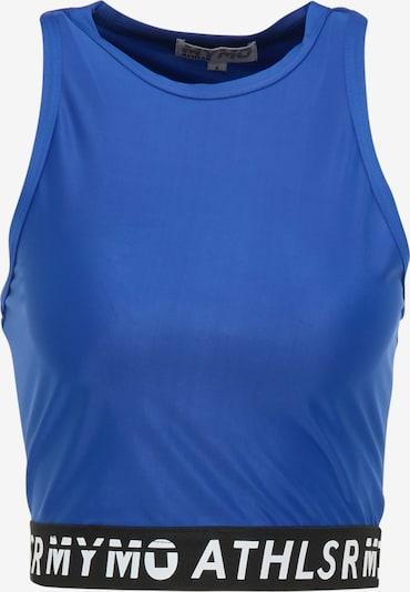 myMo ATHLSR Top sportowy w kolorze niebieski / czarny / białym, Podgląd produktu