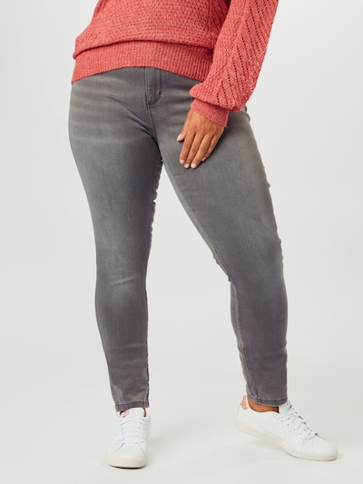 ONLY Carmakoma Jeans in grau / dunkelgrau: Frontalansicht
