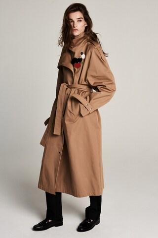 ZOE KARSSEN Between-Seasons Coat 'Wikitoria ' in Brown