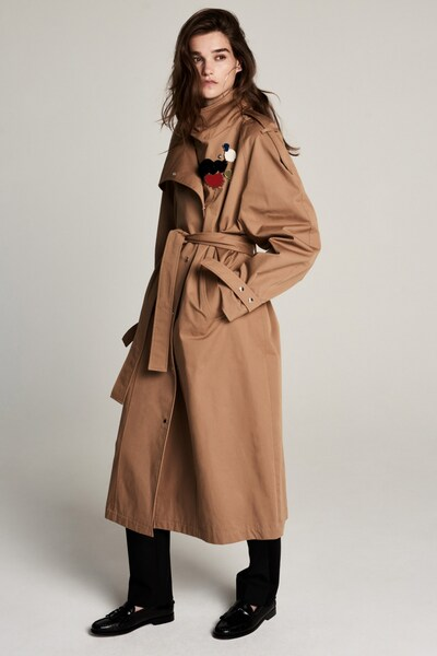 ZOE KARSSEN Übergangsmantel 'Wikitoria ' in camel / mischfarben, Modelansicht
