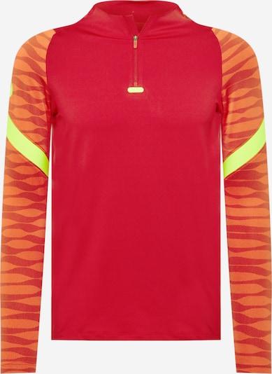 Sportiniai marškinėliai 'Strike' iš NIKE, spalva – neoninė geltona / tamsiai oranžinė / ugnies raudona, Prekių apžvalga