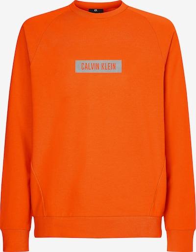 Calvin Klein Performance Sportsweatshirt in de kleur Grijs / Sinaasappel, Productweergave