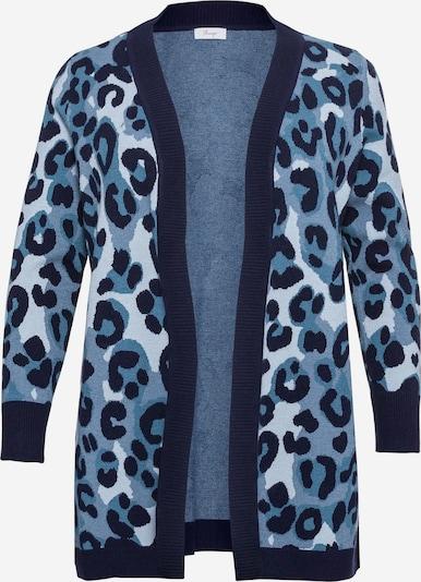 SHEEGO Cardigan en bleu chiné, Vue avec produit