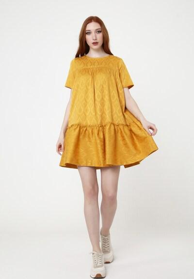 Madam-T Kleid 'EDEMIA' in gelb / senf, Modelansicht