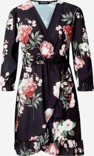 Sublevel Kleid in beige / grasgrün / pink / grenadine / schwarz, Produktansicht