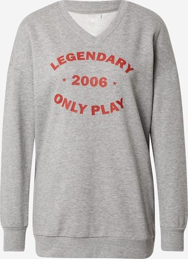 ONLY PLAY Sportsweatshirt 'Jara' i grå-meleret / rustrød, Produktvisning