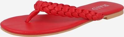 Flip-flops 'GRAZIE' Raid pe roși aprins, Vizualizare produs