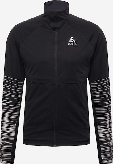 ODLO Athletic Jacket in Black / White, Item view