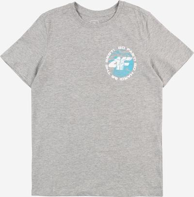 4F Sportshirt in blau / graumeliert / weiß, Produktansicht