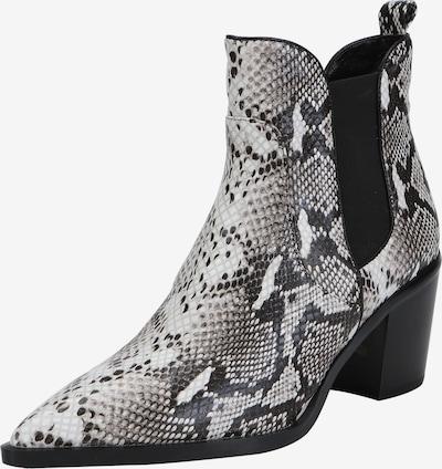 Ekonika Stiefeletten aus echtem Leder mit Reptilienprint in schwarz / weiß, Produktansicht