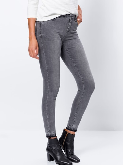 zero Jeans in grey denim, Modelansicht