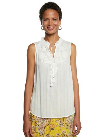 Desigual Bluse 'HANNA' i hvid, Modelvisning