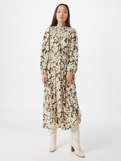 VILA Kleid 'Ivy' in khaki / weiß, Modelansicht