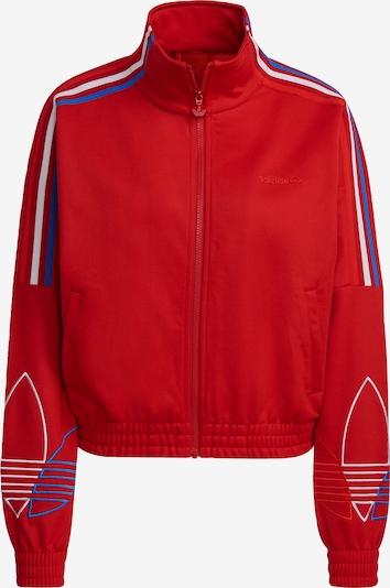 ADIDAS ORIGINALS Sweatjacke in royalblau / rot / weiß, Produktansicht