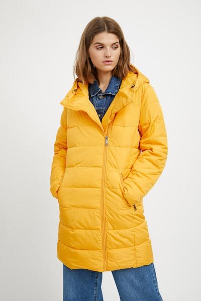 Finn Flare Steppmantel in gelb, Modelansicht