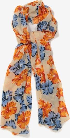 Ulla Popken Schal in beige / blau / orange, Produktansicht
