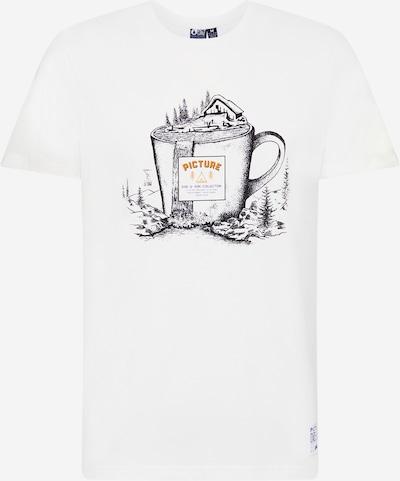 Picture Organic Clothing Funkcionalna majica | črna / bela barva, Prikaz izdelka