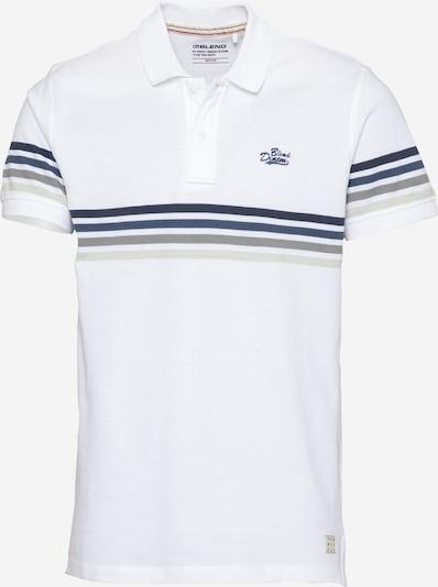 BLEND Camiseta en azul / blanco / blanco natural, Vista del producto