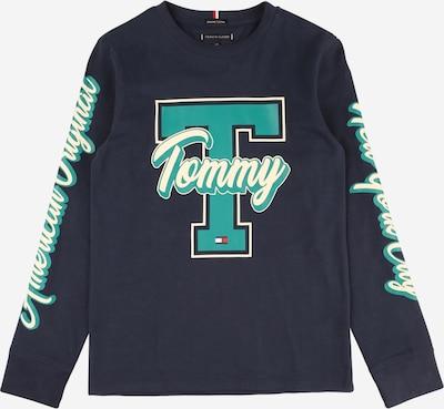 TOMMY HILFIGER Shirt 'FUN VARSITY' in navy / türkis / weiß, Produktansicht