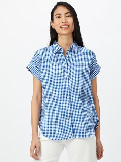 Lauren Ralph Lauren Bluse 'Broono' in blau / weiß, Modelansicht