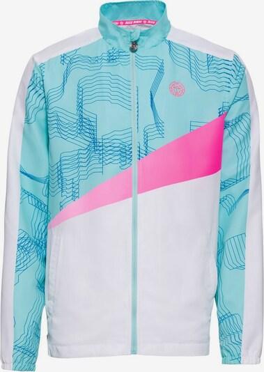 BIDI BADU Trainingsjacke Norik Tech mit kontrastfarbenen Details in blau / mischfarben / pink / weiß, Produktansicht