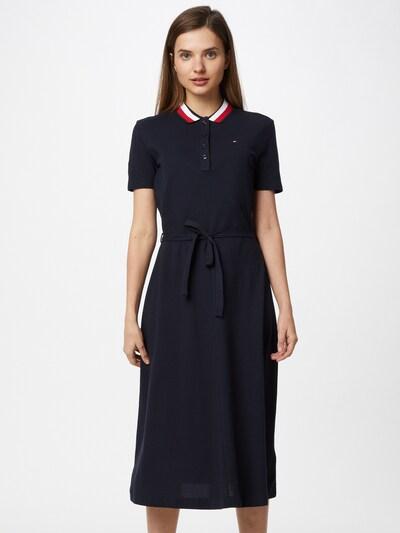 TOMMY HILFIGER Šaty 'GLOBAL' - noční modrá / červená / bílá, Model/ka