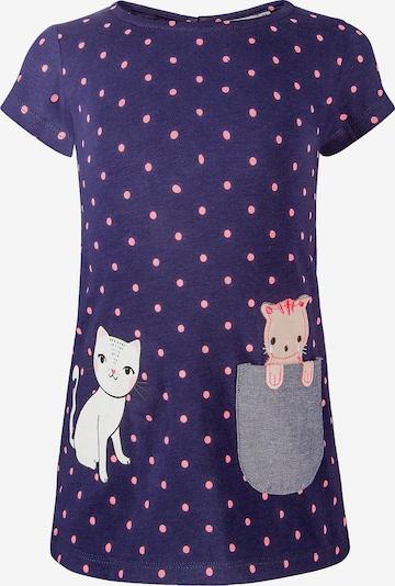 happy girls Kleid in dunkelblau / pink, Produktansicht