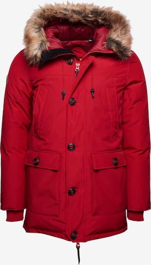 Superdry Winterparka 'Rookie' in de kleur Bruin / Rood / Zwart, Productweergave