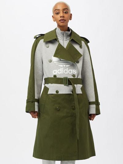 ADIDAS ORIGINALS Mantel in graumeliert / oliv / weiß, Modelansicht
