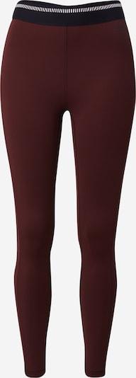 Casall Sportbroek in de kleur Bourgogne / Zwart / Wit, Productweergave