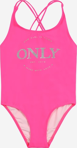 KIDS ONLY Badeanzug 'Caroline' in Pink