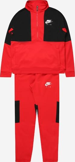 Nike Sportswear Joggingpak in de kleur Rood / Zwart / Wit, Productweergave