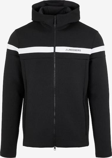 J.Lindeberg Tussenjas 'Jeff' in de kleur Zwart / Wit, Productweergave