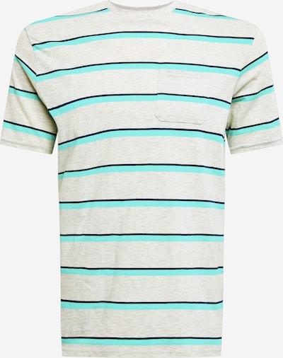 Tricou funcțional OAKLEY pe bej amestecat / bleumarin / turcoaz, Vizualizare produs